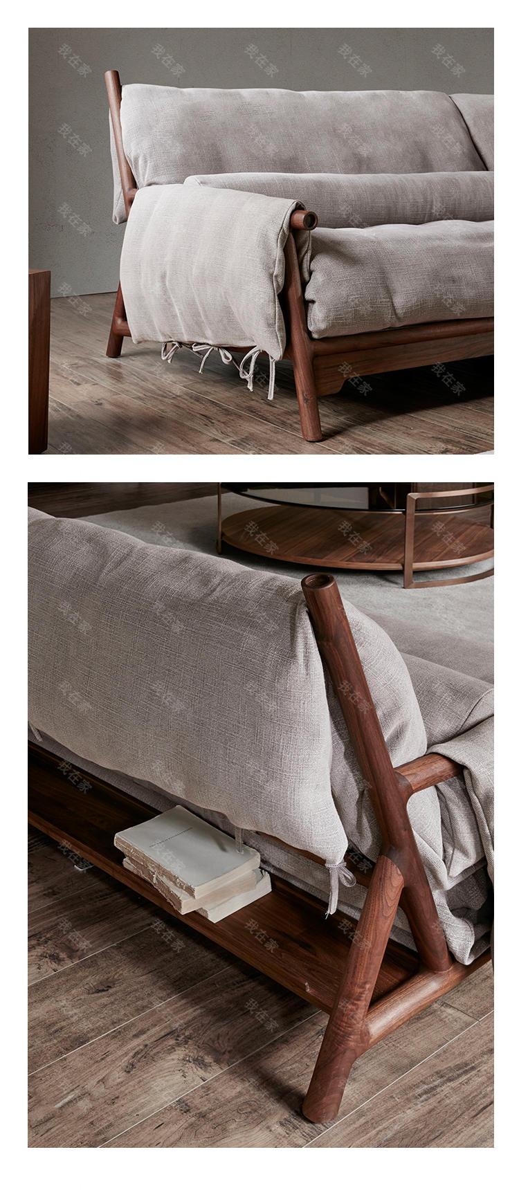 新中式风格任逍遥沙发(样品特惠)的家具详细介绍