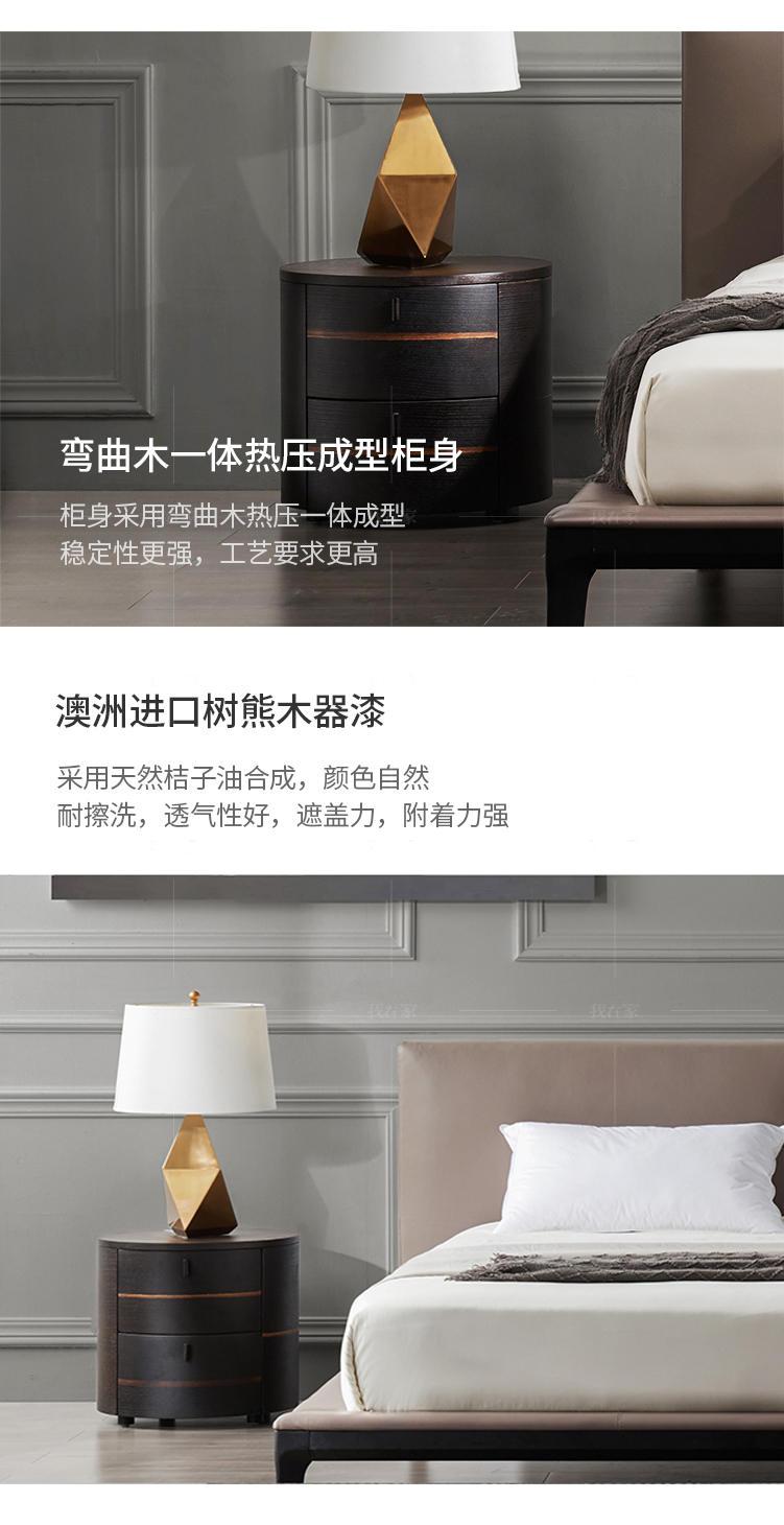 意式极简风格弗拉斯床头柜的家具详细介绍