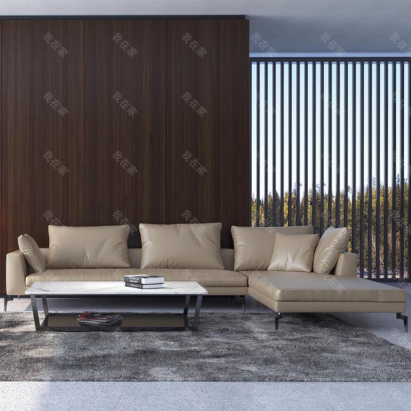 意式极简风格新主题真皮沙发