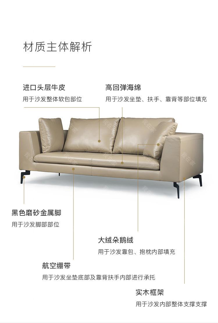 意式极简风格新主题真皮沙发的家具详细介绍