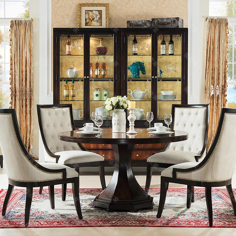 现代美式风格西西里圆桌
