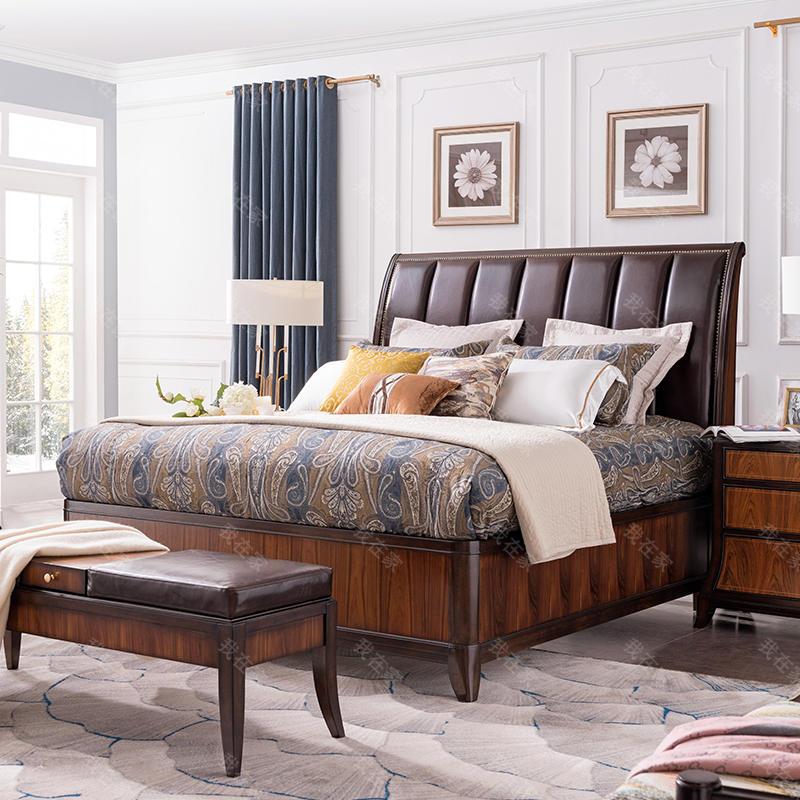 现代美式风格富尔顿软靠床