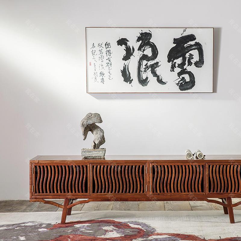 新中式风格雅直电视柜