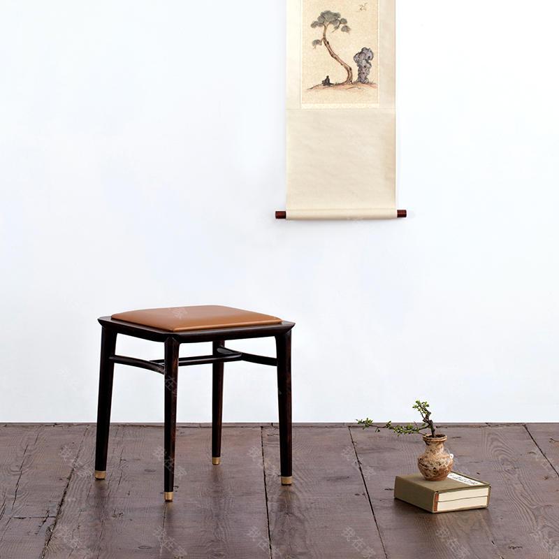 新中式风格澹然方凳