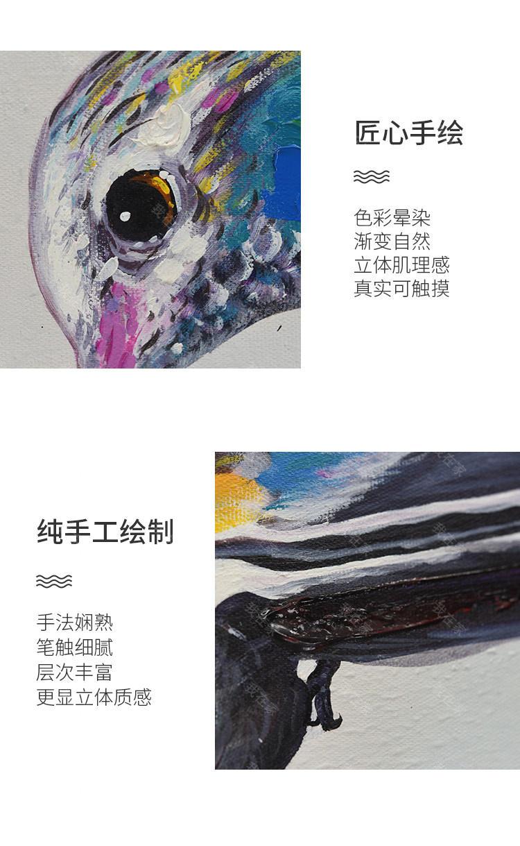 绘美映画品牌蜂鸟 手绘装饰画的详细介绍