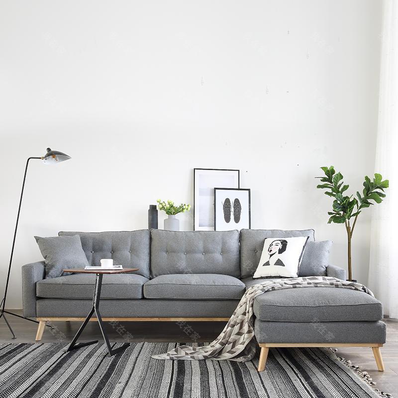 原木北欧风格未绪沙发