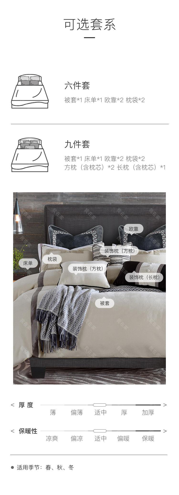 carolina home品牌艾布纳高支奢密床品套件的详细介绍