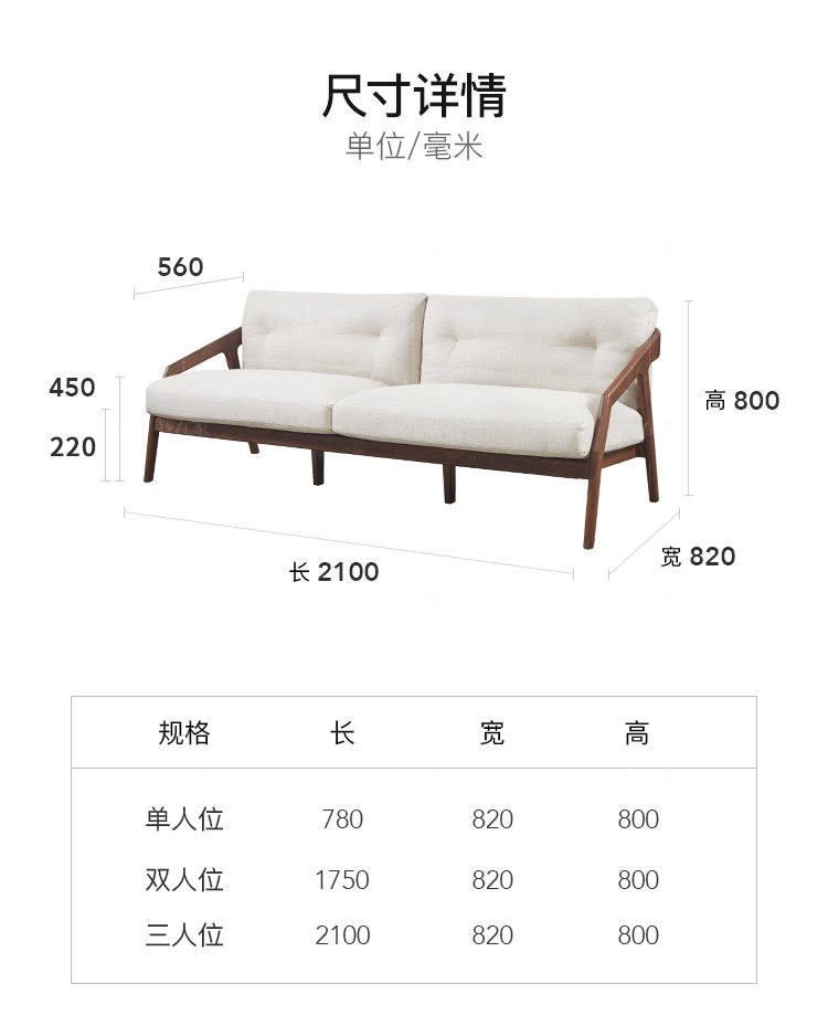 原木北欧风格意绪沙发的家具详细介绍