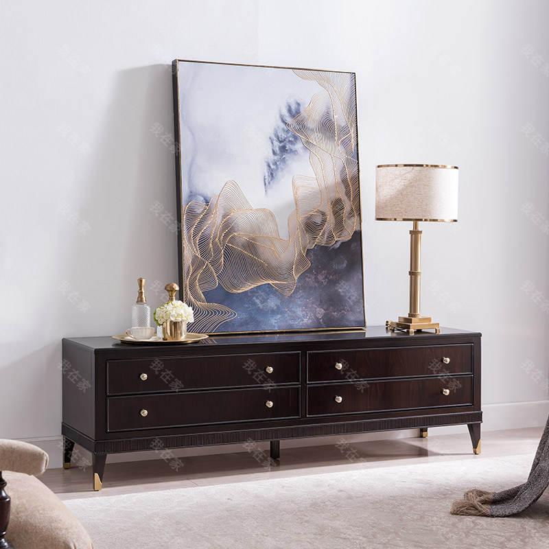 现代美式风格西西里电视柜