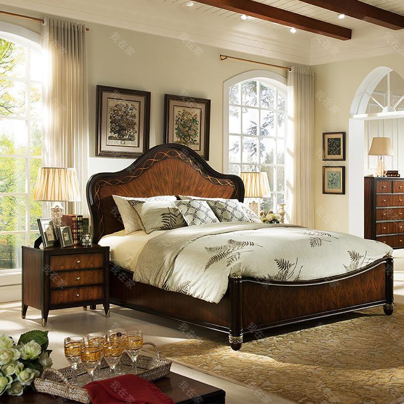 现代美式风格富尔顿板床