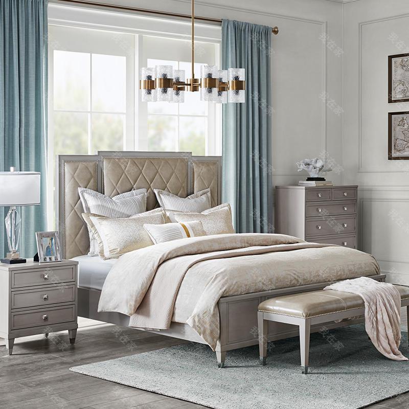 现代美式风格曼哈顿软包床