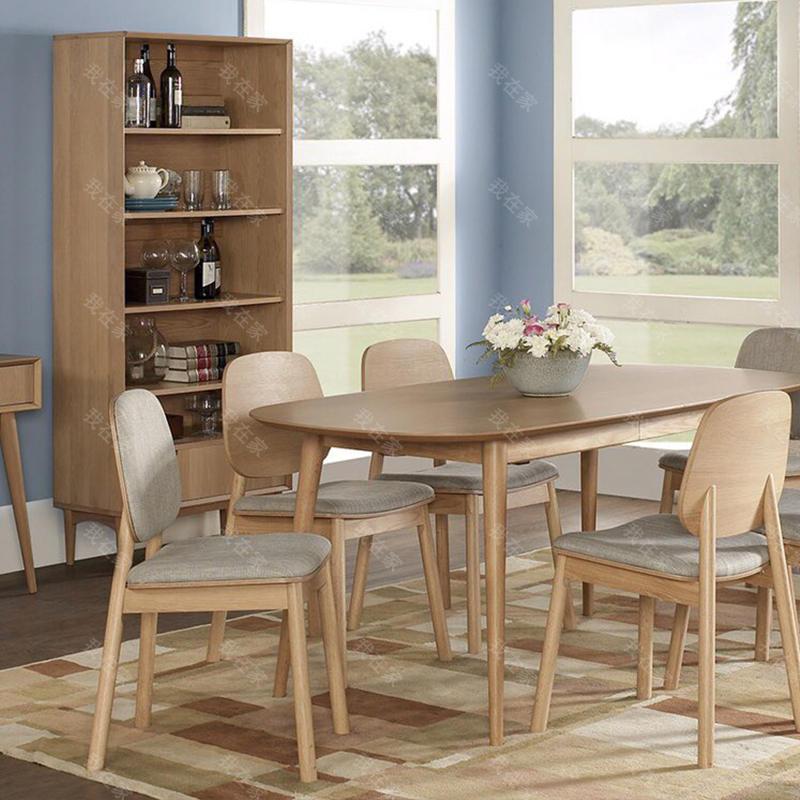 原木北欧风格莱斯餐椅(样品特惠)