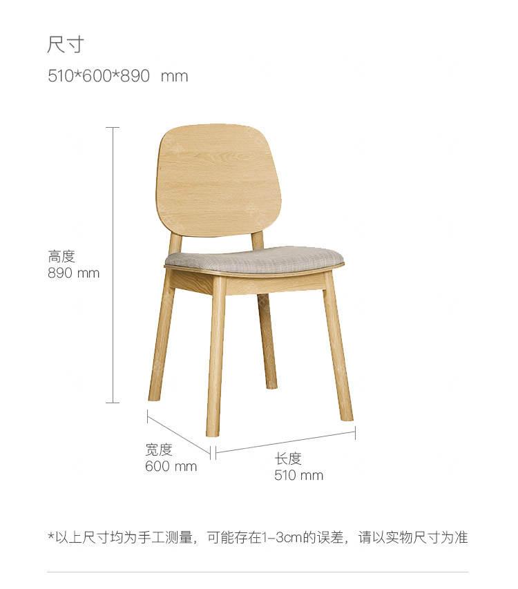 原木北欧风格莱斯餐椅(样品特惠)的家具详细介绍