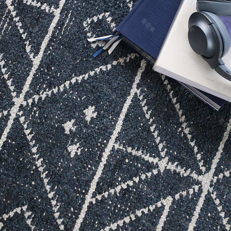 现代简约风格印度风几何手工竹丝地毯