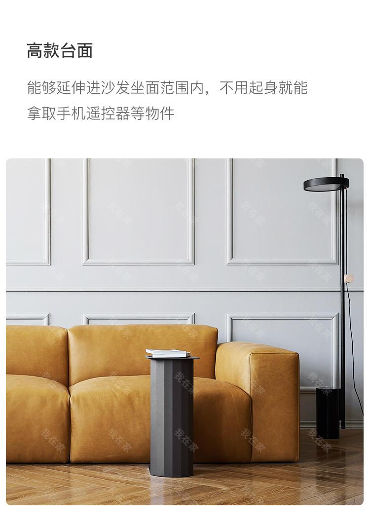 色彩北欧风格罗马柱茶几的家具详细介绍