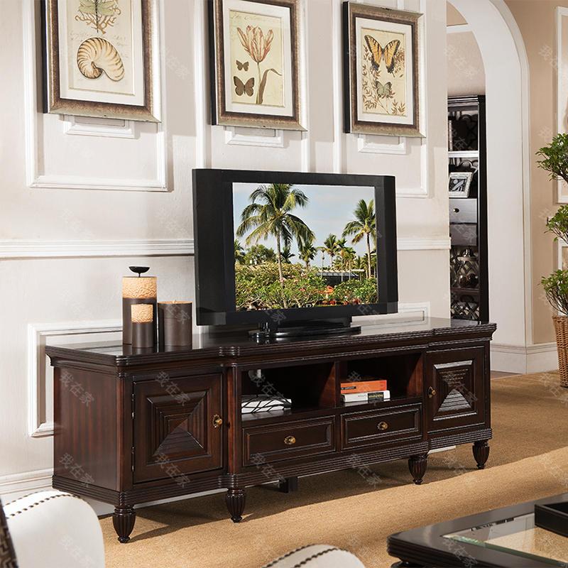 传统美式风格摩洛凯电视柜