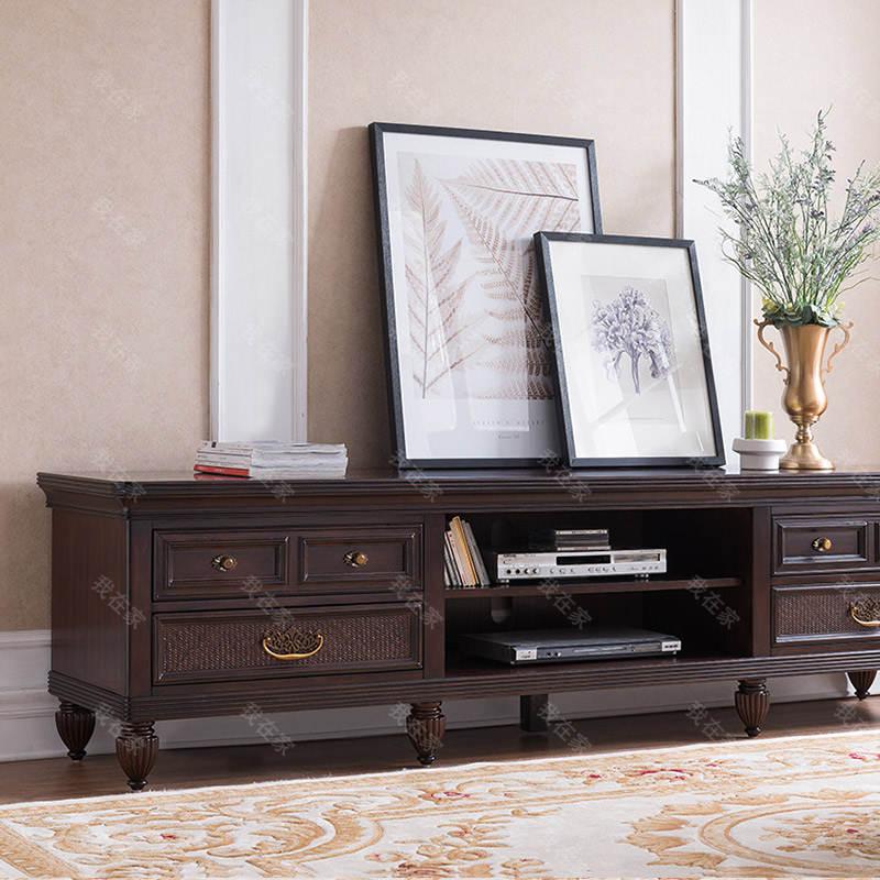 传统美式风格夏威夷风情长电视柜