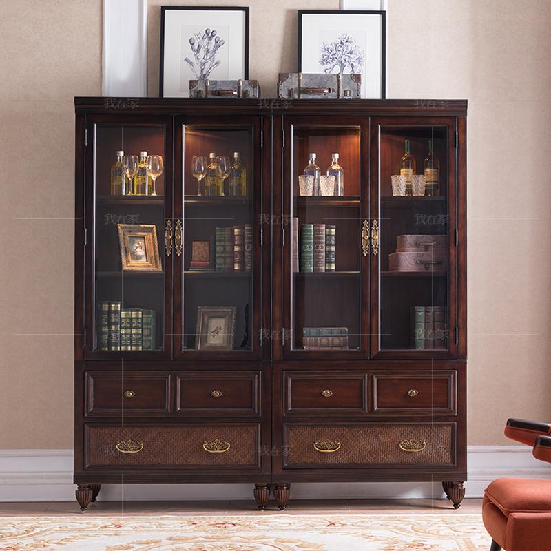 传统美式风格摩洛凯书柜