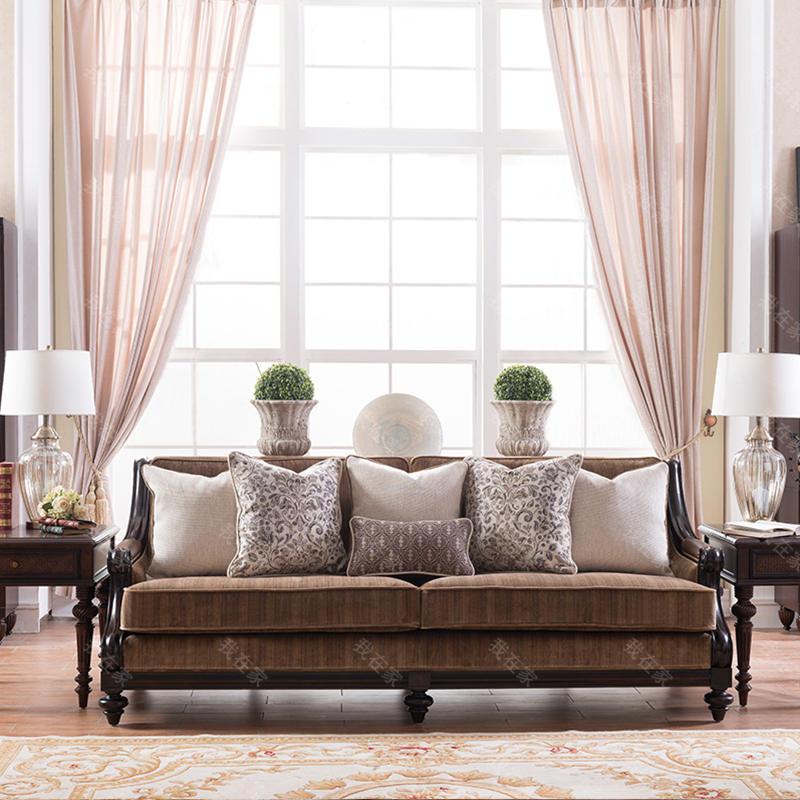 传统美式风格夏威夷风情沙发