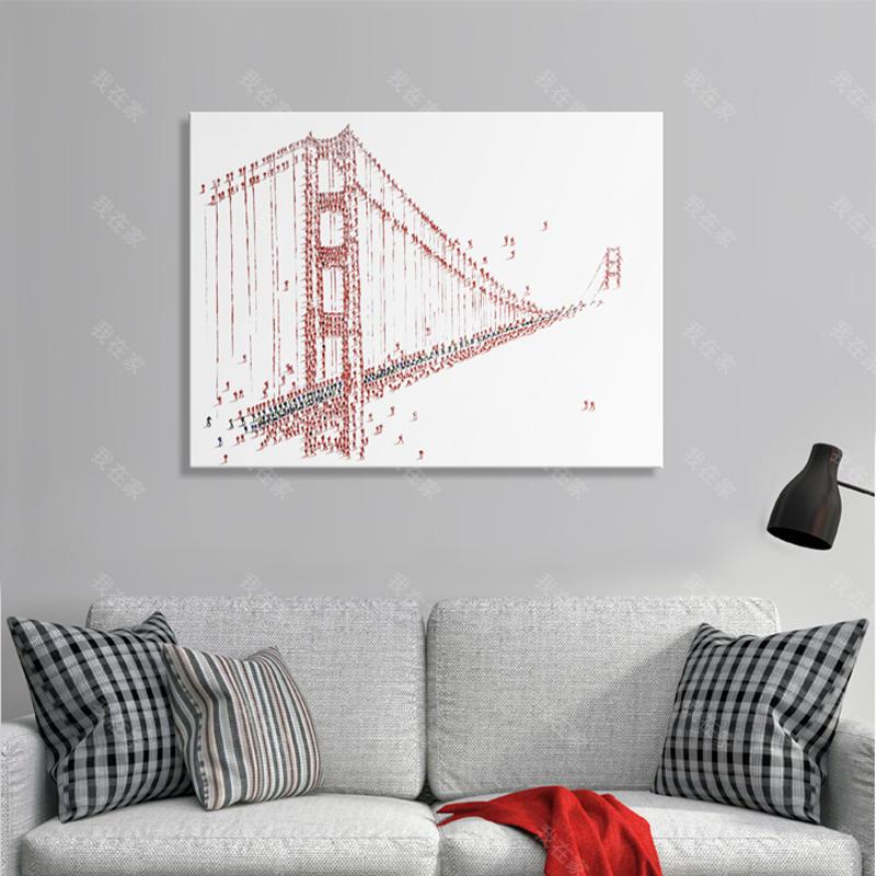 绘美映画品牌金门大桥--手绘画
