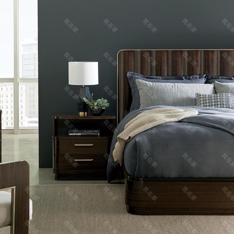 轻奢美式风格云斑谷双人大床