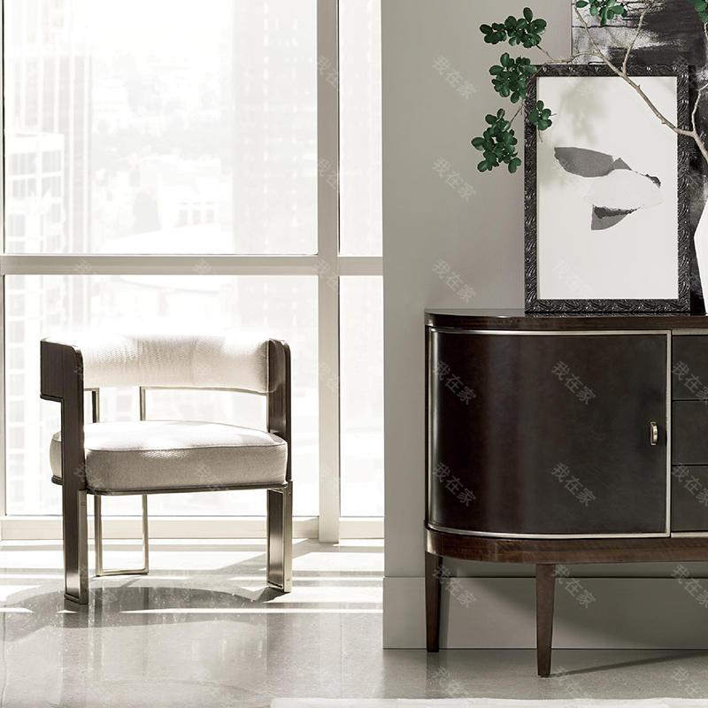 轻奢美式风格云斑谷书椅