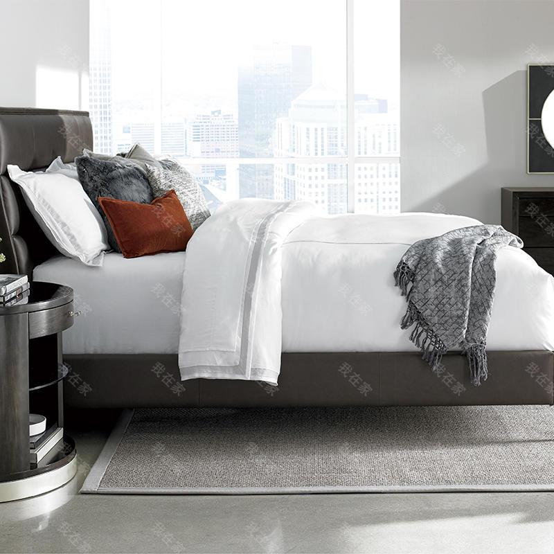 轻奢美式风格夜光贝双人床