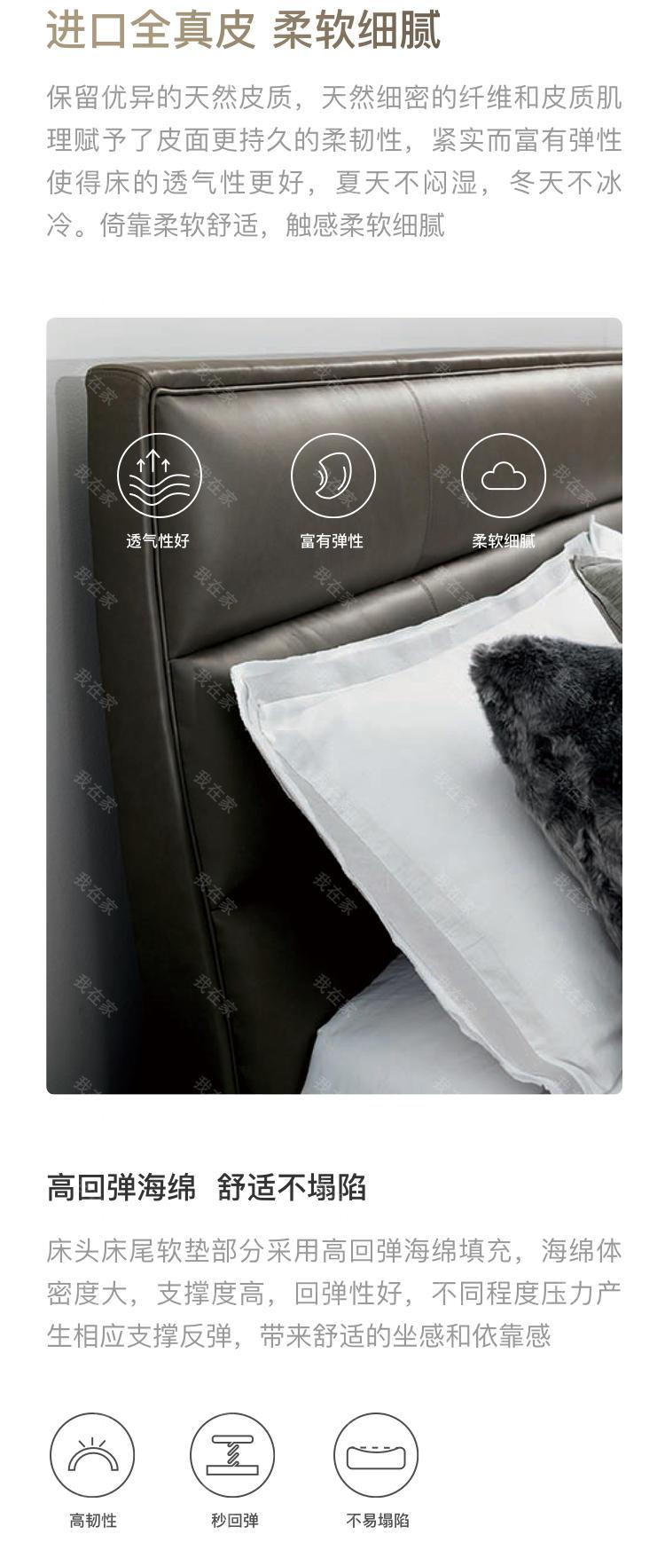 轻奢美式风格夜光贝双人床的家具详细介绍