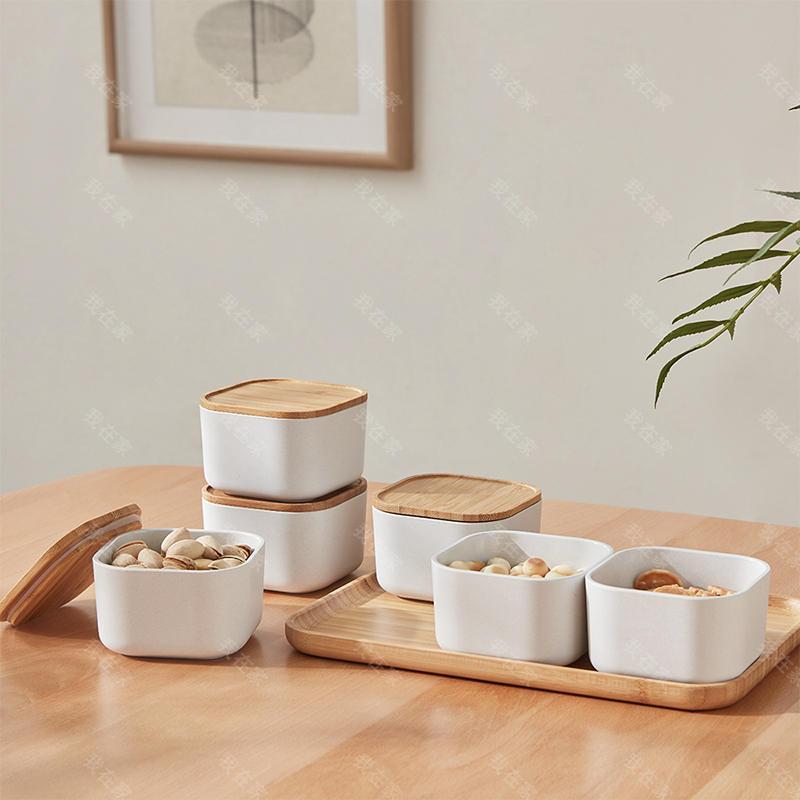 橙舍品牌食趣·竹纤维干果盘果盒