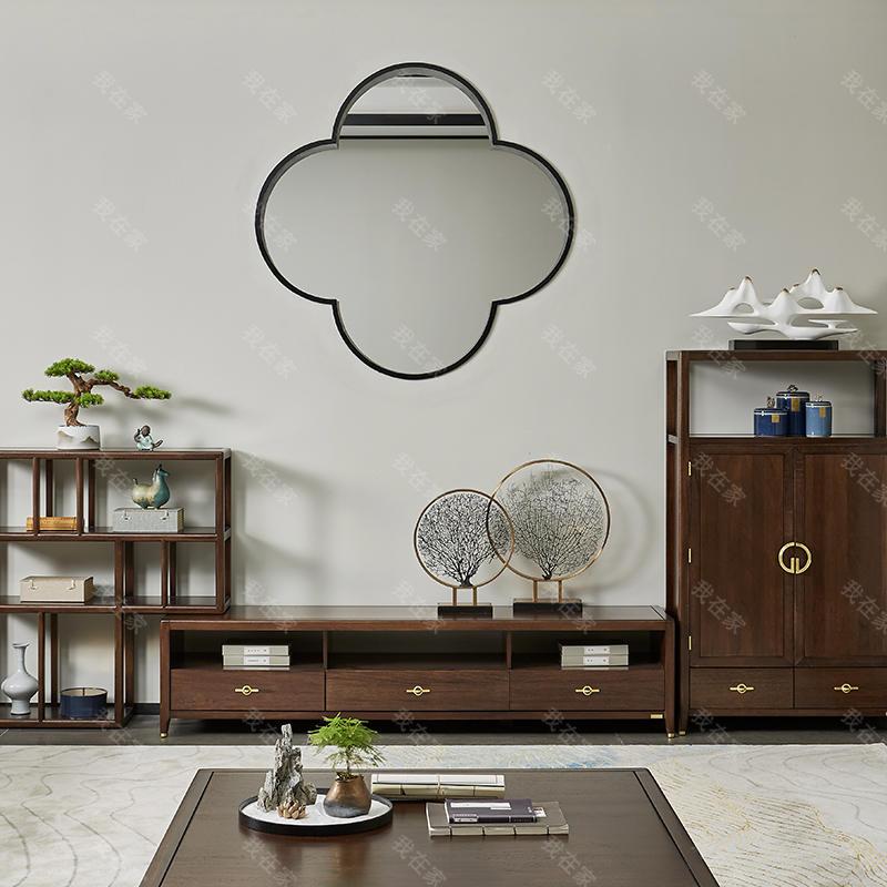 新中式风格水墨组合电视柜