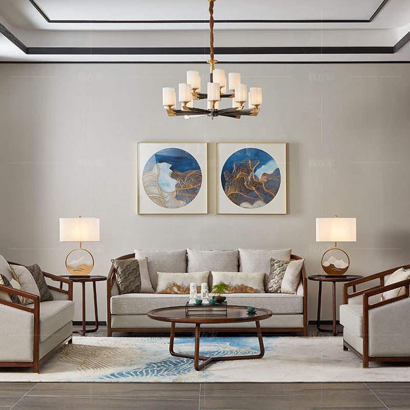 新中式风格春晓沙发