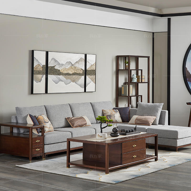 新中式风格微尘沙发
