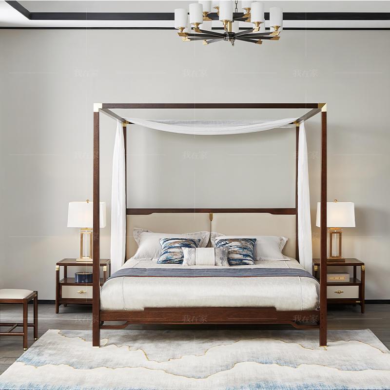 新中式风格微尘双人床