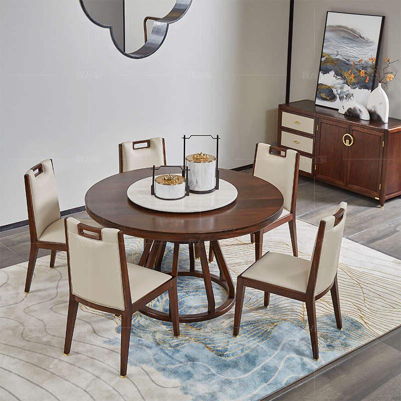 新中式风格松溪圆餐桌