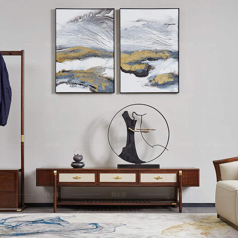 新中式风格松溪电视柜