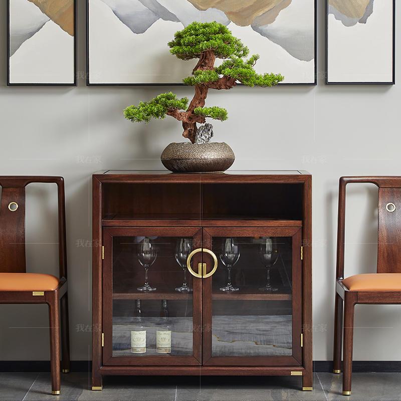 新中式风格如影餐边柜