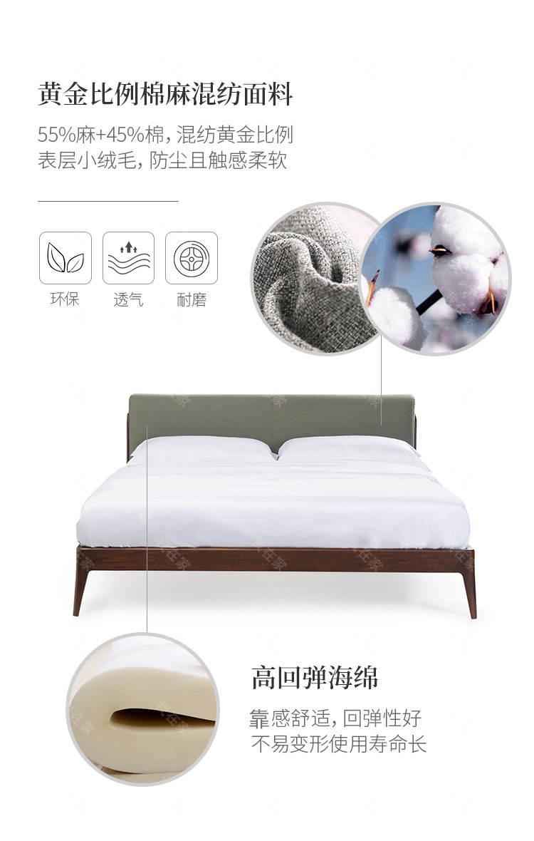 意式极简风格艾洛双人床的家具详细介绍