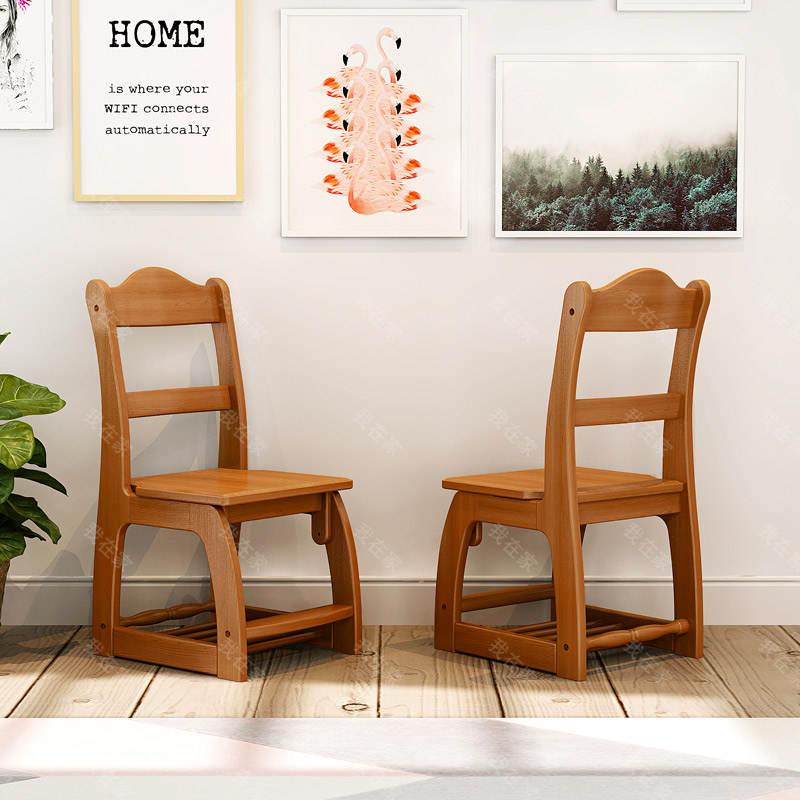 美式儿童风格美式-维斯升降书椅