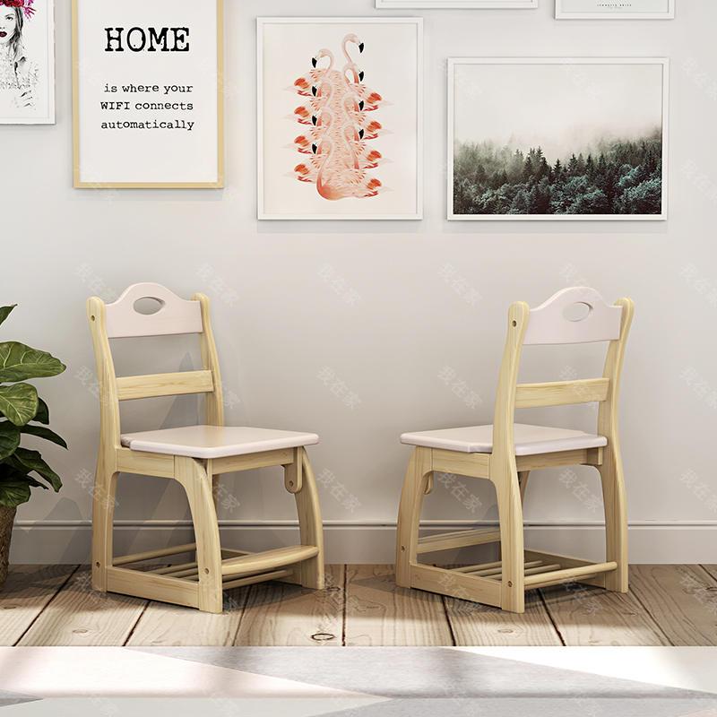 北欧儿童风格北欧-凯蒂升降书椅