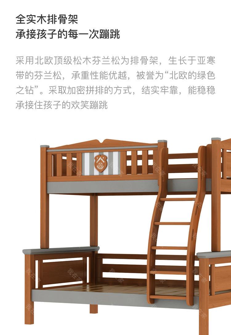美式儿童风格美式-波文子母床的家具详细介绍