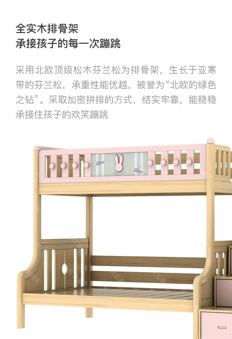 北欧儿童风格北欧-瑞贝特子母床的家具详细介绍