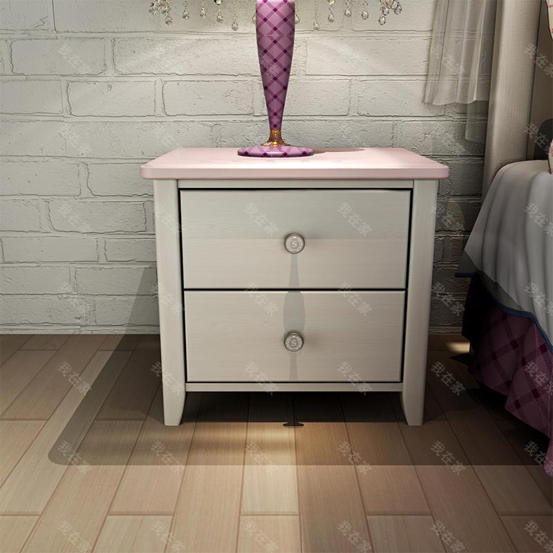 美式儿童风格美式-斯诺床头柜