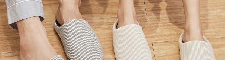 网易严选品牌日式和风条纹家居拖鞋的详细介绍