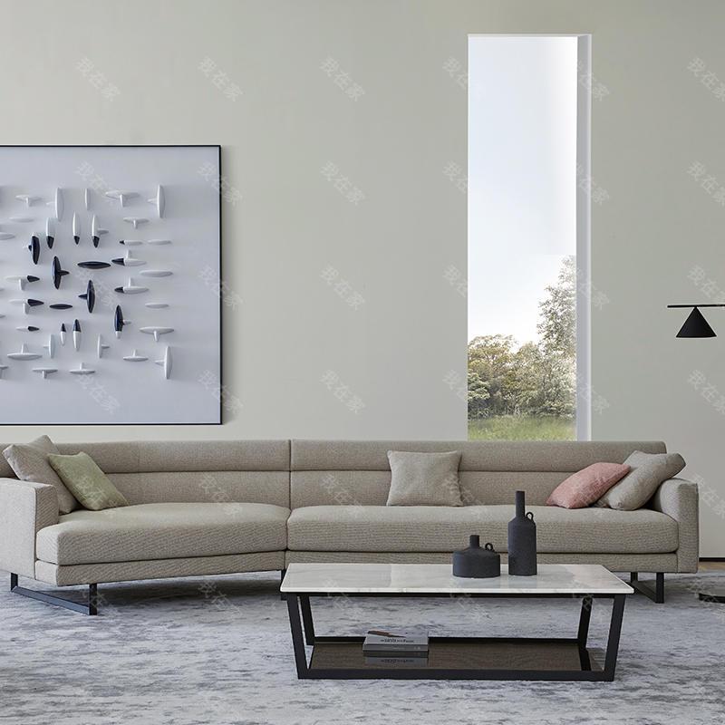意式极简风格比邻沙发