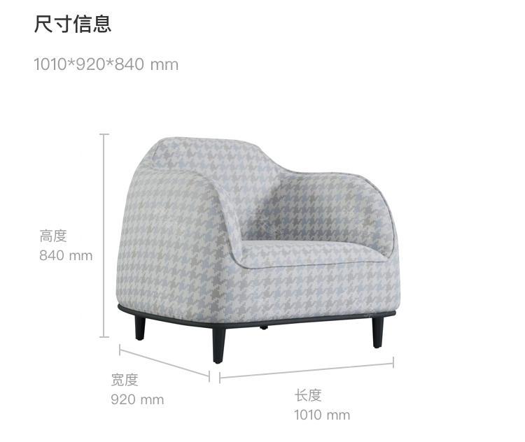 意式极简风格艾洛休闲椅(样品特惠)的家具详细介绍