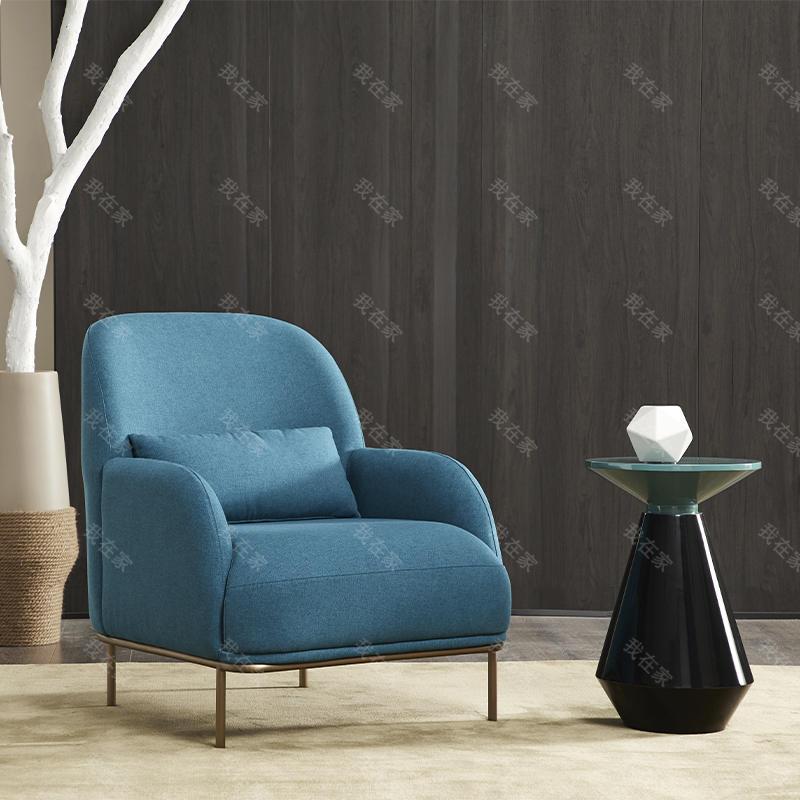 意式极简风格可可单椅