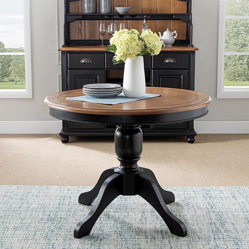 乡村美式风格道格拉斯圆餐桌