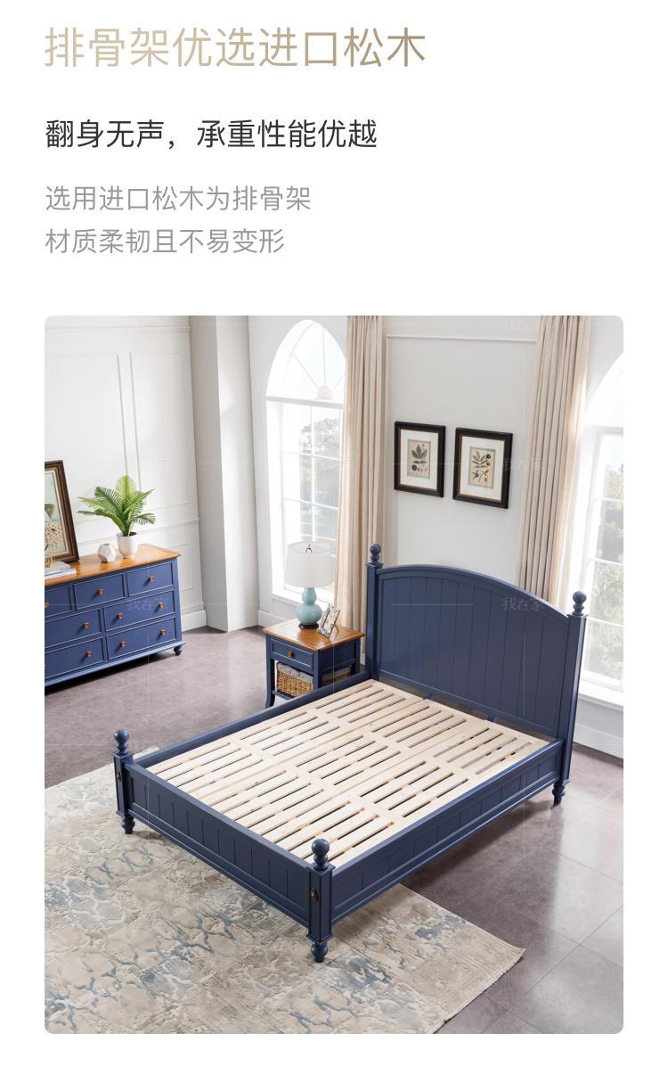 乡村美式风格洛利北美黄杨木床的家具详细介绍