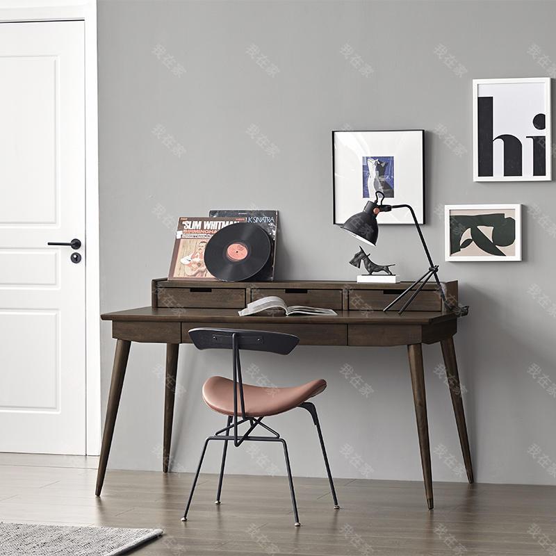 中古风风格奥尔堡书桌