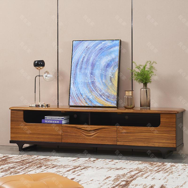 现代实木风格倚窗电视柜(样品特惠)